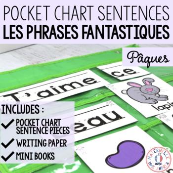 Phrases fantastiques - Pâques (FRENCH Pocket Chart Easter Sentences)