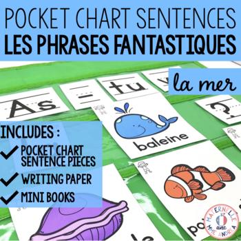 Phrases fantastiques - Sous la mer (FRENCH Ocean Pocket Chart Sentences)