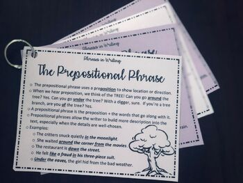 Phrases in Writing: Resource Cards