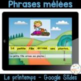 Phrases mêlées - Le printemps - Distance Learning - Scramb