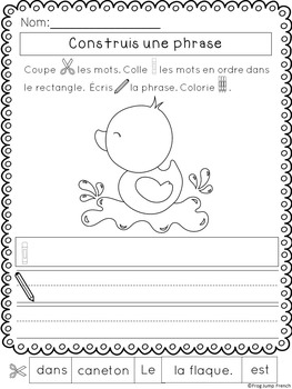 Phrases melees printemps // French Build a Sentence Spring Edition