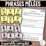 Phrases mêlées - Ensemble - French scrambled sentences