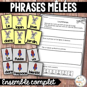 Phrases mêlées - Ensemble - French scrambled sentences - Bundle