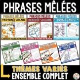 Phrases mêlées (Ensemble complet)  -  French Scrambled Sentences Bundle