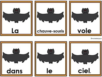 Halloween - phrases mêlées  -  French Halloween