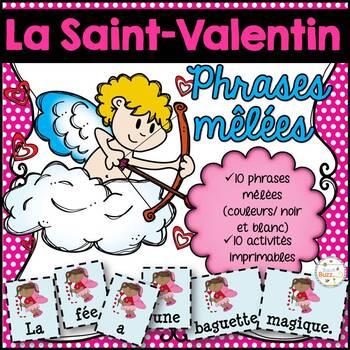 La Saint-Valentin - phrases mêlées