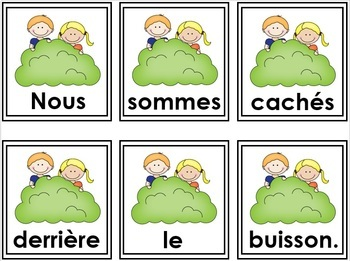 LE PRINTEMPS  - Phrases mêlées         French Scrambled sentences