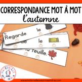 Correspondance mot à mot - L'automne (FRENCH Autumn 1:1 co