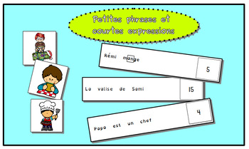Phrases simples et courtes expressions
