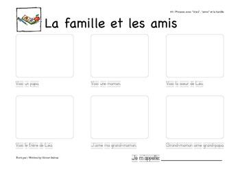 Phrases sur la famille (1ère)