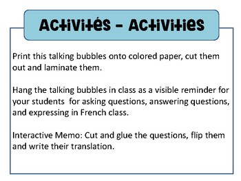 Phrases utiles - Sentences for the classroom