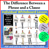 The Difference Between a Phrase and a Clause Individual Wh