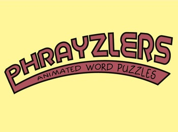 Phrayzlers Animated Word Puzzles game. High School Set ~ 4
