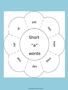 Short Vowel Word Work Activities