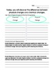 Physical Change vs. Chemical Change Lesson Guide with handouts