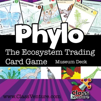 Phylo: Educational Ecosystem Trading Card Game - Museum Kids Deck