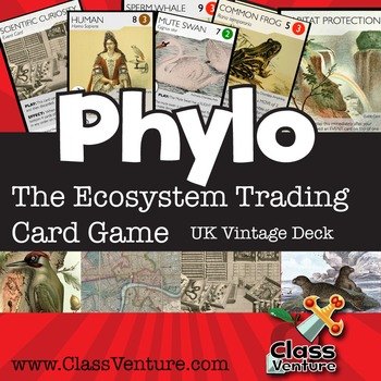 Phylo: Educational Ecosystem Trading Card Game - UK Vintage Deck