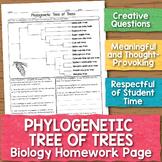 Phylogenetic Tree Biology Homework Worksheet