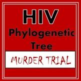 Phylogenetic Tree Cladogram Worksheet Genetic Taxonomy HIV Murder Activity
