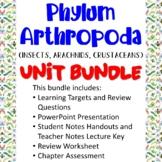 Phylum Arthropoda Unit Bundle (Arthropods: Insects, Arachnids, Crustaceans)