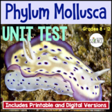 Phylum Mollusca Unit Test | Printable and Digital Distance Learning