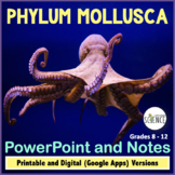 Phylum Mollusca Powerpoint and Notes | Printable and Digital Distance Learning