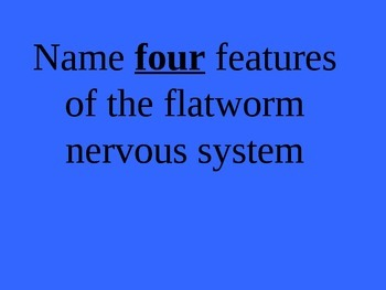 Phylum Platyhelminthes (Flatworms) Jeopardy Review PowerPoint