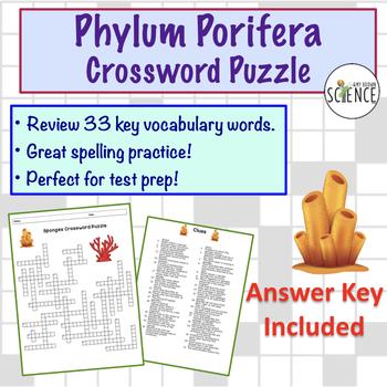 Phylum Porifera Crossword Puzzle