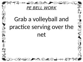 Phys. Ed Bell Work
