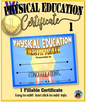 Phys. Ed. Certificate 1 - Fillable