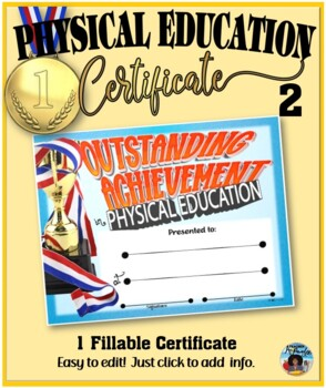 Phys. Ed. Certificate 2 - Fillable