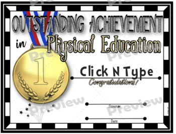 Phys. Ed. Certificate 7 - Fillable