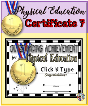 Phys. Ed. Certificate (7) ~ Editable