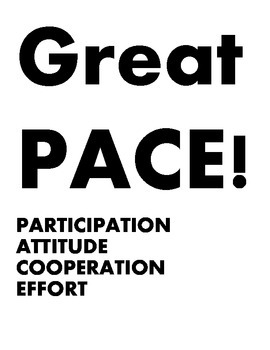 Phys Ed PACE posters