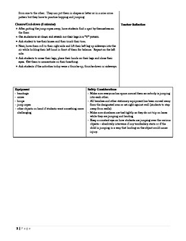 Phys Ed Unit Plan - Jump Rope and Ball Games