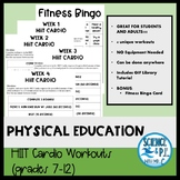Physical Education: Distance Learning HIIT Cardio Workouts
