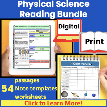 Physcial Science Guided Reading Growing Bundle