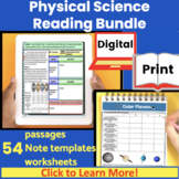 Physcial Science Guided Reading Bundle