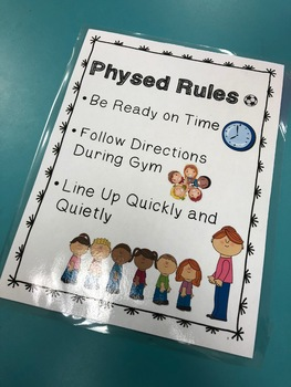 Physed Rules Poster