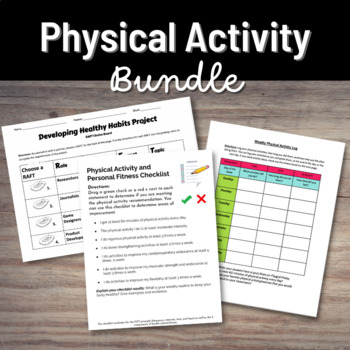 Physical Activity Bundle - Classroom or Distance Learning Activities/Projects