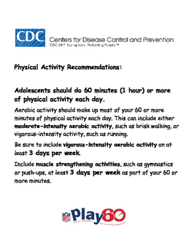 Physical Activity Log Play 60