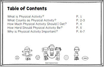 Physical Activity Mini-Book and Bingo Game