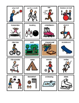 Physical Activity Picture Communication Symbols By