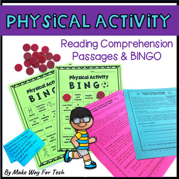 Physical Activity Reading Comprehension Passages and Bingo Game