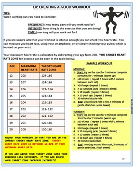 Physical Activity and Exercise, An Interactive Notebook