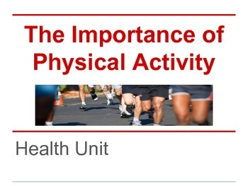 Physical Activity and Exercise Unit -- Health (Answer Key