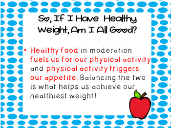 Physical Activity and Healthy Eating