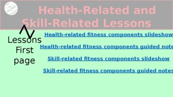 Physical Activity and Nutrition - Health and Skill Related ...