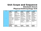 Physical Anthropology Unit Scope and Sequence