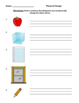 Physical Change Pictures/Sentences